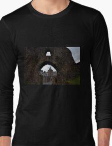 Launceston Castle.....Cornwall UK Long Sleeve T-Shirt