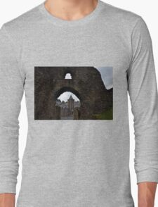 Launceston Castle.....Cornwall UK Long Sleeve T-Shirt