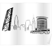 CLE Skyline Poster