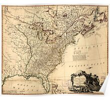 American Revolutionary War Era Maps 1750-1786 951 The United States of North America with the British & Spanish territories according to the treaty of 1784 1 Poster