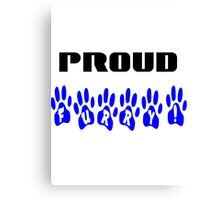 Proud Furry White and Blue Canvas Print