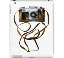 Watercolor vintage camera in leather case iPad Case/Skin