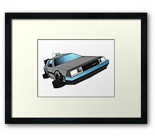 Delorean, back to the future Framed Print