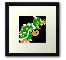 8-bit Bowser Framed Print