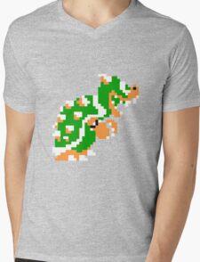 8-bit Bowser Mens V-Neck T-Shirt