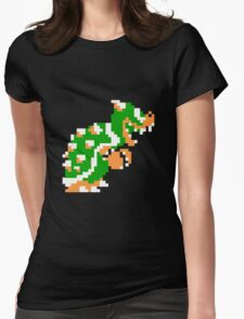 8-bit Bowser Womens Fitted T-Shirt