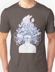 Graphic man in virtual reality glasses Unisex T-Shirt
