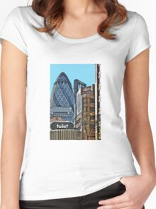 City toilet? Women's Fitted Scoop T-Shirt