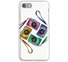 Multicolor vintage reflex cameras iPhone Case/Skin