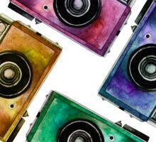 Multicolor vintage reflex cameras Sticker