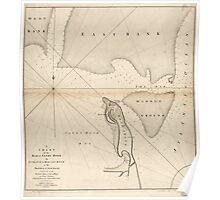 American Revolutionary War Era Maps 1750-1786 008 A chart of the bar of Sandy Hook the entrance of Hudson's River in the Province of New Jersey Poster