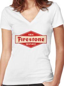 Firestone Women's Fitted V-Neck T-Shirt