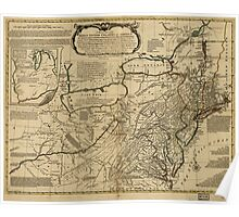 American Revolutionary War Era Maps 1750-1786 036 A general map of the middle British colonies in America 06 Poster