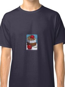 Cake with Red Cherries: Oil Pastel, Party, Celebration, Food Classic T-Shirt