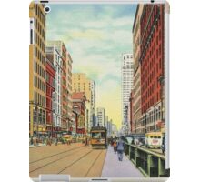 Retro Vintage Detroit Woodward Avenue Shopping iPad Case/Skin