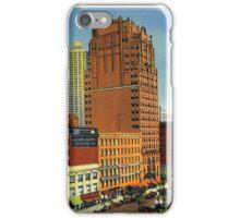 Retro Vintage Detroit Washington Boulevard, Bank Building, Cadillac Hotel iPhone Case/Skin