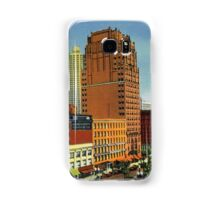 Retro Vintage Detroit Washington Boulevard, Bank Building, Cadillac Hotel Samsung Galaxy Case/Skin