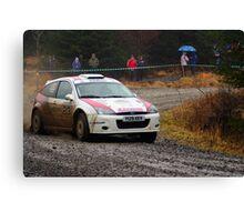 Ford Focus Rally Car Canvas Print