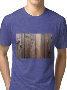 Weathered fence wood Tri-blend T-Shirt