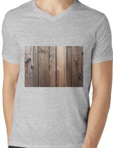 Weathered fence wood Mens V-Neck T-Shirt