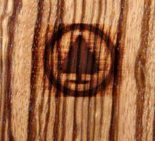 Wood Grain ~ Tree Burn Sticker
