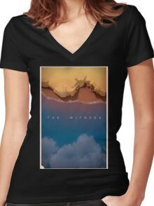 The Witness  Women's Fitted V-Neck T-Shirt