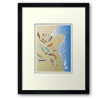 Windsurfers on the beach Framed Print