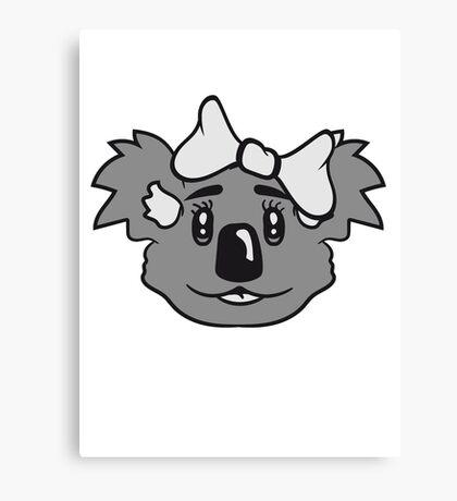 girl sweet cute little koala bear face head girl woman female loop Canvas Print