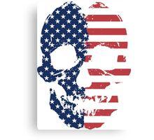 American Flag Skull  Canvas Print