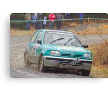 Nissan Micra Rally Car Canvas Print