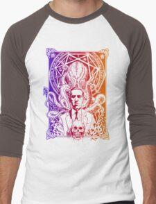 Cthulhu Howard Phillips Lovecraft HP historical society  Men's Baseball ¾ T-Shirt