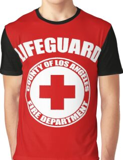 L.A. Co. Lifeguard - red Graphic T-Shirt