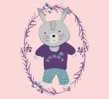 Cute Whimsy Bunny Rabbit  One Piece - Long Sleeve