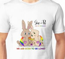 Skip & Pip (aka the Pride Bunnies) Pride 2015 Unisex T-Shirt