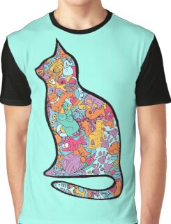 Meow Cats Graphic T-Shirt