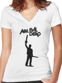 Old Man Ash III Women's Fitted V-Neck T-Shirt