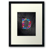 Fun Letter - D Framed Print