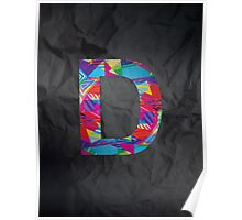 Fun Letter - D Poster