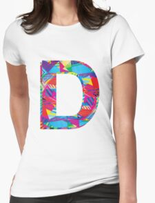 Fun Letter - D Womens Fitted T-Shirt