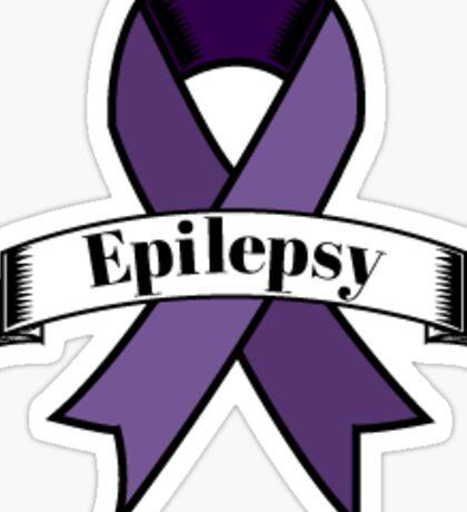 Epilepsy Ribbon Sticker Sticker