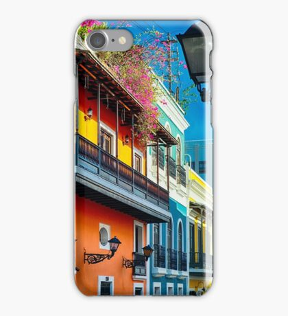 Colors of Old San Juan I iPhone Case/Skin