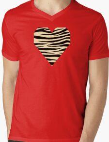 0047 Blond Tiger Mens V-Neck T-Shirt