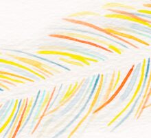 Original Watercolor Single Feather - Pastel Tones Sticker