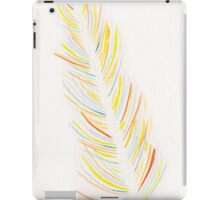 Original Watercolor Single Feather - Pastel Tones iPad Case/Skin