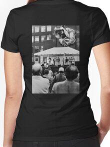 Toronto street scene  Women's Fitted V-Neck T-Shirt