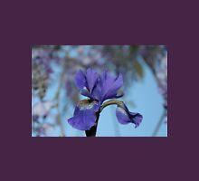 Wistful blue iris Womens Fitted T-Shirt
