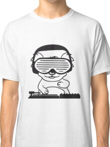 dj party music celebration headphones glasses funky deejay club dancing disco koala mischpult Classic T-Shirt