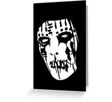 Joey Jordison's Mask Greeting Card