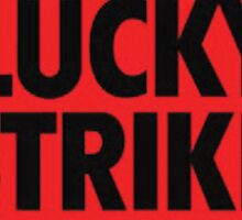 Lucky Strike Logo Sticker