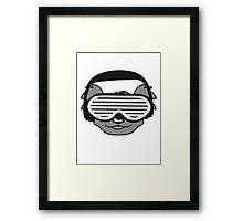 dj party music celebration headphones glasses funky deejay club dancing disco koala head face Framed Print